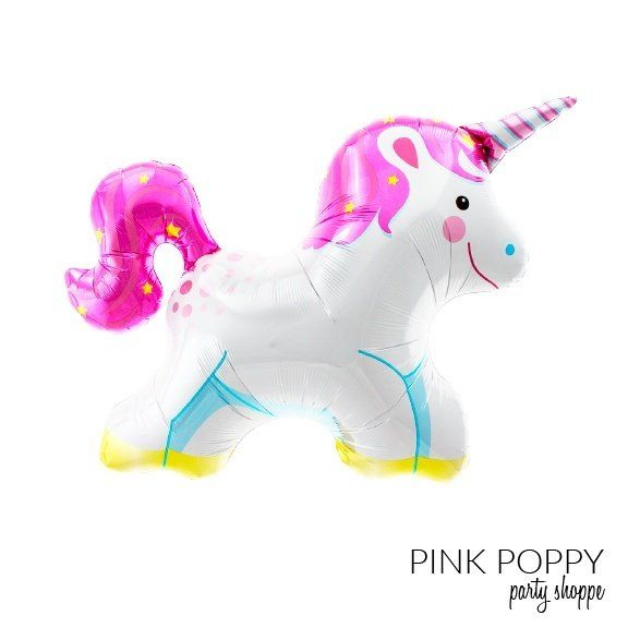 "Unicorn Mylar Balloon - 36"" -   - Pink Poppy Party Shoppe - 1"