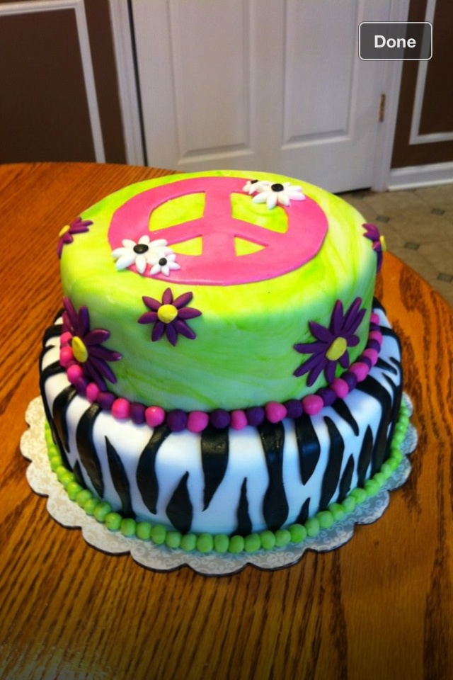 Cake I Made For A 14 Year Old Girl Cakes Birthday Cake