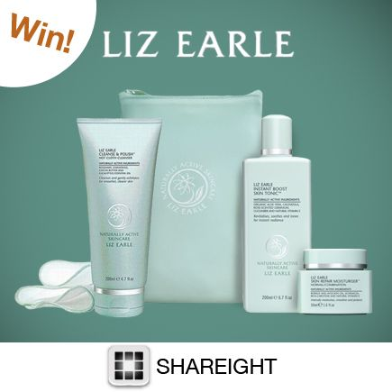 Repin and Follow SHAREIGHT on Pinterest for the chance to win this amazing Liz Earle set! Our best giveaway yet!