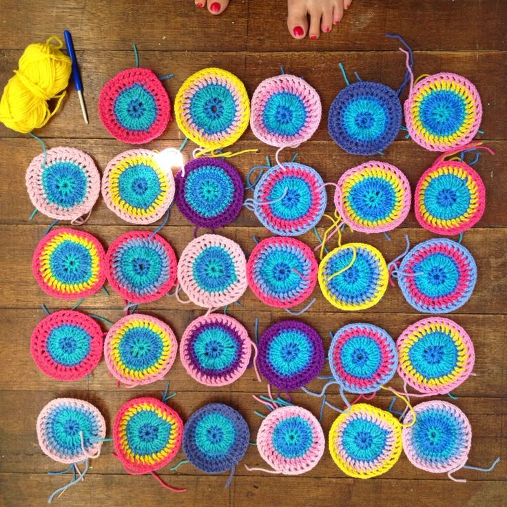 Crocheting a granny a day this year 2015