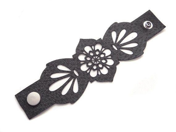 Great laser cut leather bracelet!