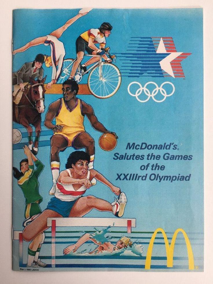 Mcdonalds salutes the games xxiiird olympiad schedule
