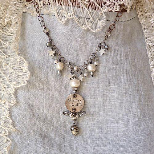 Nina: Diy Accesories, Pearls Necklaces, Starry Night, Jewelry Design, Jewellery Inspiration, Night Necklaces, Night Woodland, Woodland Necklaces, Jum Jum