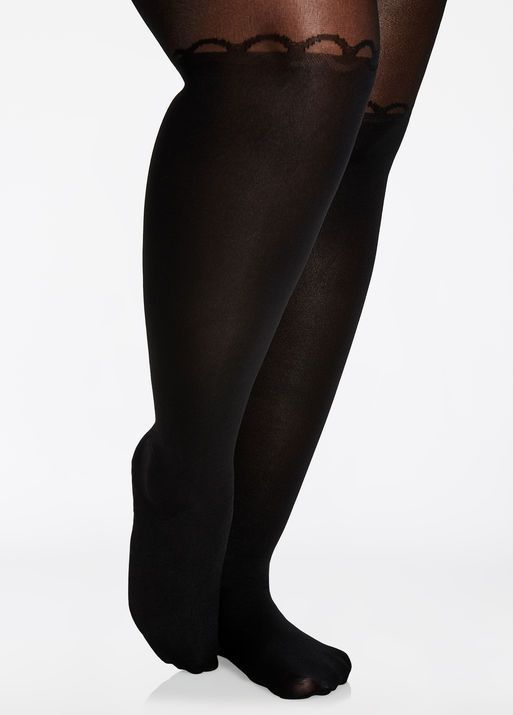 df2965617d989 Fashion Bug Garter Open Front Nylon Tights #FashionBug #PlusSize #Hosiery  #Tight #Tops www.fashionbug.us