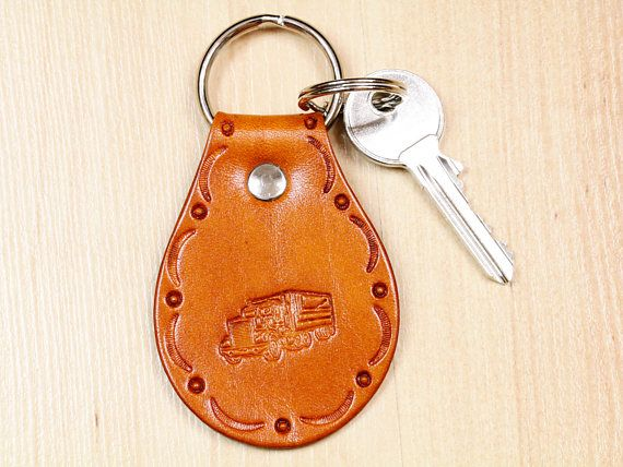 Handmade Keyring, Leather Keyring, Lorry Keyring, Truck Keychain. Repin To Remember.