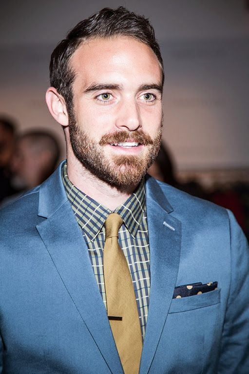 Actor Joshua Sasse at the Perry Ellis Fall 2015 runway