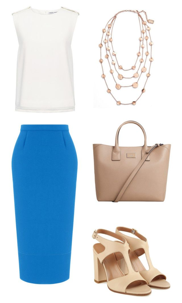 """M068"" by tynianova on Polyvore featuring мода, Roland Mouret, Finders Keepers, MANGO и Karine Sultan"