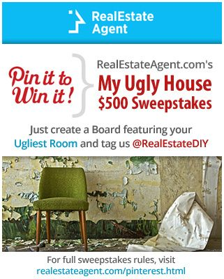 join our sweepstakes create a board for your ugly roomhouse and tag our - House Sweepstakes
