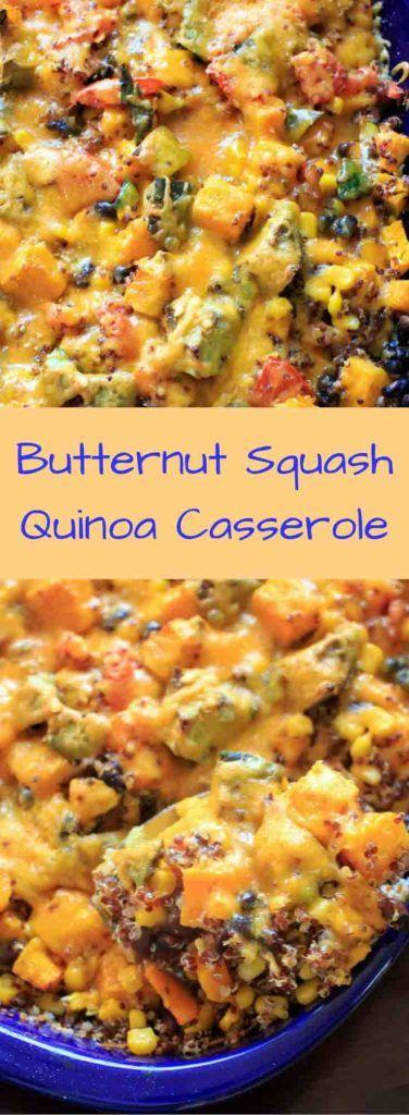 Butternut squash quinoa casserole #repas #végétarien #courge