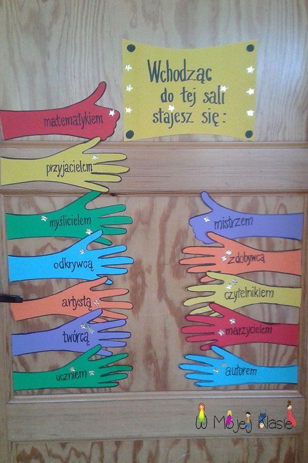 Motywacja - Drzwi do sali ~ Nauka i zabawa z dzieckiem - W mojej klasie