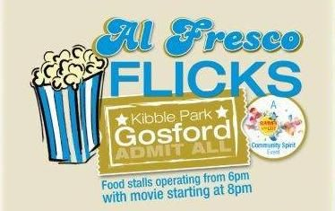 Kibble Park is set to host a giant open air cinema with food stalls, picnic area and children's entertainment. A place that brings people together. http://www.visitcentralcoast.com.au/events/this-week/alfresco-flicks-kibble-park-gosford