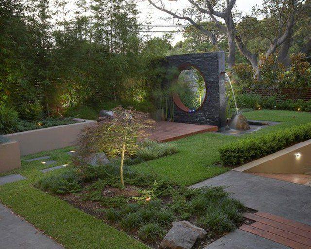 décoration de jardin de design contemporain