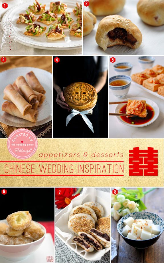 Scrumptious Appetizers and Desserts for A Modern Chinese Wedding featured by the Wedding Bistro at Bellenza!