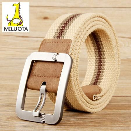 [MILUOTA] 2015 Belts for men Fashion Casual pin buckle canvas belt men real leather fashion mens canvas belts AW1083