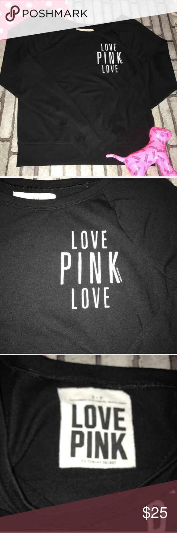 Victoria's Secret Pink slouchy off shoulder crew S So cute & comfy. VS Pink slouchy crew neck shirt. Oversized, relaxed fit. Off the shoulder. Super soft. 62% polyester, 34% viscose, 4% elastane. Machine wash. Size Small. PINK Victoria's Secret Tops Sweatshirts & Hoodies