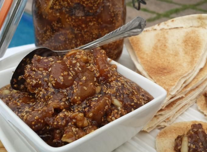 Lebanese Dried Fig Jam. Once you try it, you will never be satisfied with the commercial fig jam | Hadia's Lebanese Cuisine