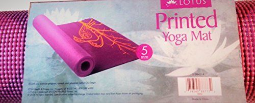 Printed Yoga Mat  5mm thick 68 L x 24 W  Purple Yellow Dove in Branch Print >>> Want additional info? Click on the image.