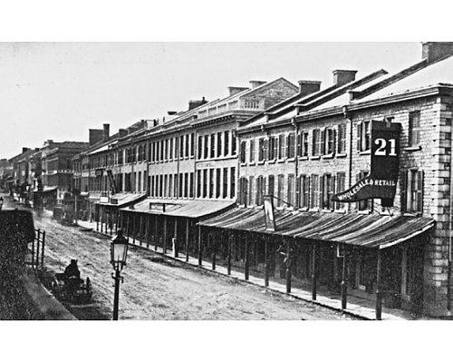 Princess Street, Kingston, Ontario, 1863.