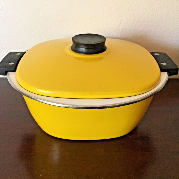 Midcentury Modern Catherineholm Enamelware Lid Covered Pan Dutch Oven Casserole #CatherineHolm