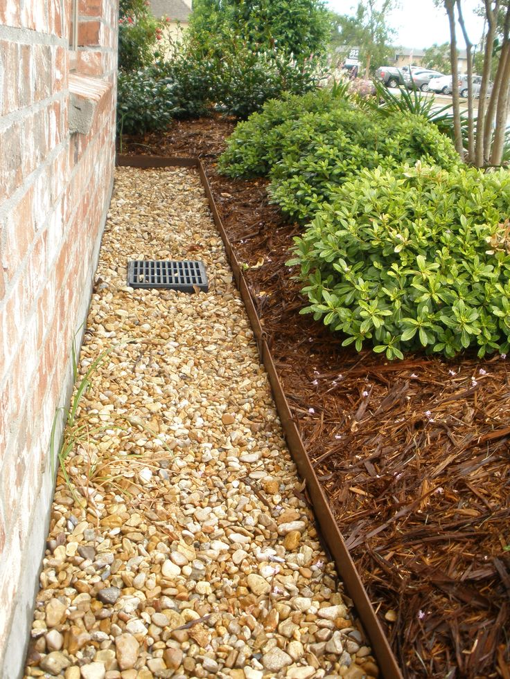 Backyard Drainage Ideas landscape drainage design with green foliages ideas and height trees around ideas full size Gulfcoastlandscapes Drainage Solutions