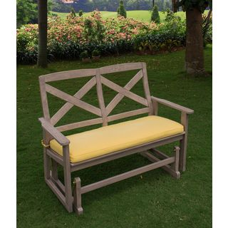 Shop for Cambridge Casual West Lake Glider Bench with Yellow Seat Pad. Get free shipping at Overstock.com - Your Online Garden