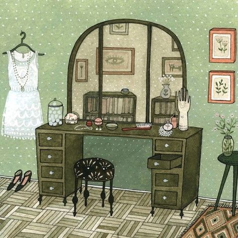 Yelena Bryksenkova_Naive perspective_sketch interier