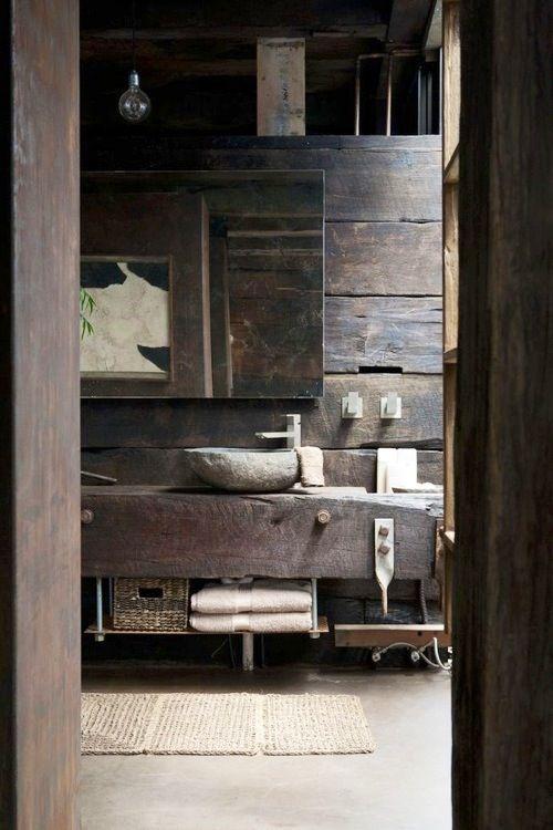 rustic natural bathroom home decors architecture pinterest salle de bains salle et d co. Black Bedroom Furniture Sets. Home Design Ideas