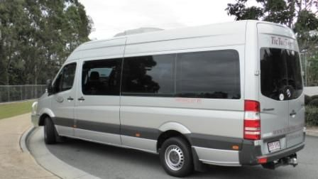 Mercedes 14 Seat Corporate Mini Coach, available Brisbane, Gold Coast, Sunshine Coast.  #BrisbaneAirportTransfers #CorporateSedansBrisbane