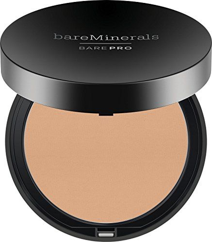 bareMinerals Barepro Performance Wear Powder Foundation, Warm Natural, 0.35 Ounce  Clinically shown to improve skin clarity, reduce pore size appearance and control shine  Available in 20 true-to-you shades in a sleek foundation compact.  Ultra-smooth, silky texture glides on effortlessly for superior customizable coverage.