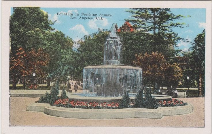 Pershing Square is bounded by 5th and 6th, Hill and Olive. The oldest park in Los Angeles, it was originally known as La Plaza Abaja, the lower plaza, and was renamed Central Park in the early 1890s.  