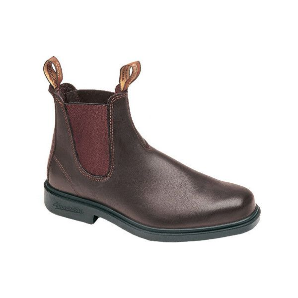 Blundstone Dress Series Boot - Brown Leather Boots ($175) ❤ liked on Polyvore featuring shoes, boots, brown, formal boots, dress boots, blundstone boots, dressy boots and leather shoes