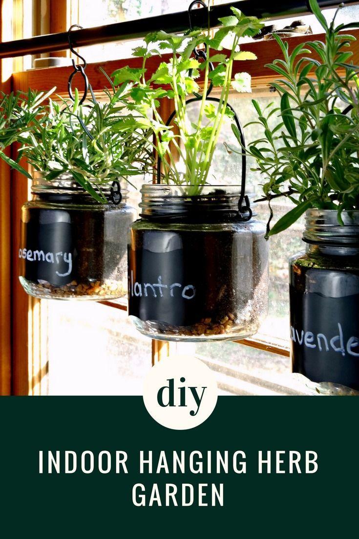 DIY Indoor Hanging Herb Garden Tutorial