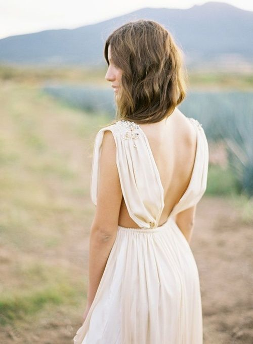Simple, boho-inspired dress. I dig the detailing on the shoulders. Sometimes less is more, and this dress is pretty hot.