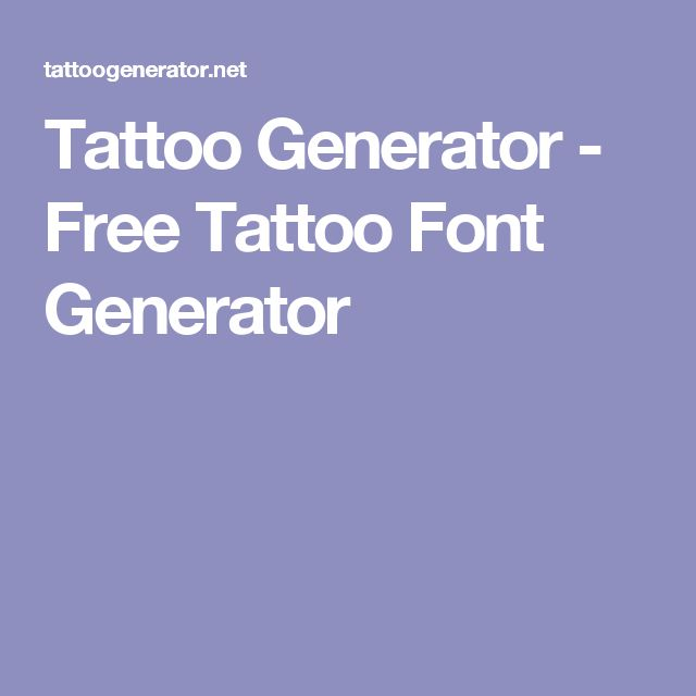 Tattoo Buchstaben Generator Wunderbare Tattoo Lettering: 25+ Best Ideas About Font Generator On Pinterest