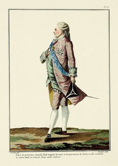 Billedresultat for 18th century fashion plate man