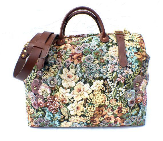 Carpet Bag Weekender / Overnight / Carry on Carpet by LondonJacks