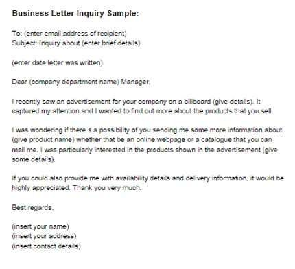 4 Business Inquiries Offers PDF Templates Word Excel Templates