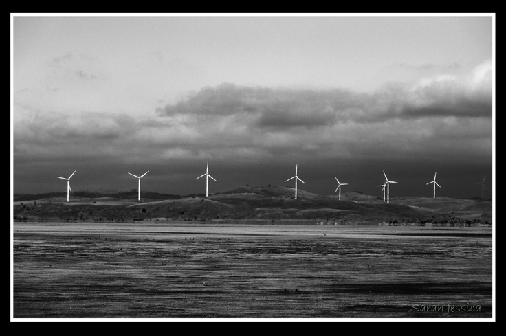 This is a windfarm I photographed from the side of the road near Canberra, Australia.
