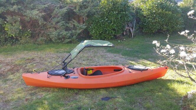 Diy sunshade for kayak vw pinterest fish canoeing for Kayak accessories for fishing