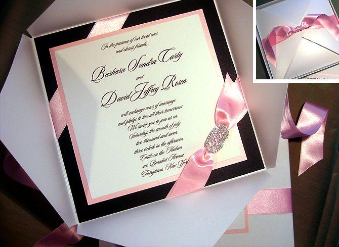 Image Detail For  Custom Handmade Wedding Invitation .