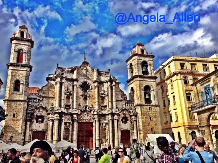 San Cristobal Cathedral. Beautiful architecture in Havana.