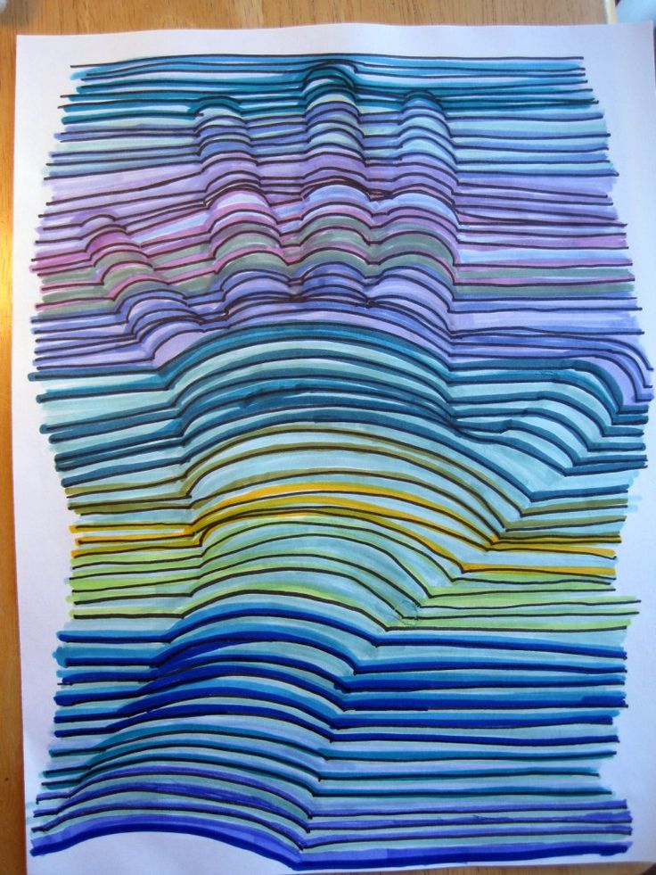 3-D Hand Drawing