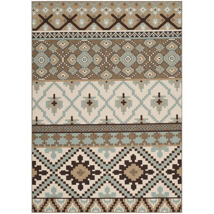 Safavieh Indoor/ Outdoor Veranda Cream/ Brown Southwestern Rug (5'3 x 7'7) - Overstock™ Shopping - Great Deals on Safavieh 5x8 - 6x9 Rugs