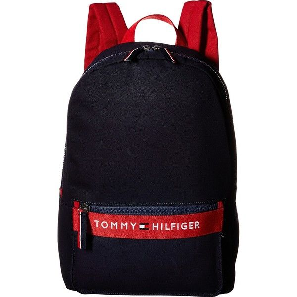 Tommy Hilfiger TH Sport - Core Plus Backpack (Red/Navy 1) Backpack... ($31) ❤ liked on Polyvore featuring bags, backpacks, multi, embroidered bags, sport backpack, red backpack, sport bag and blue backpack