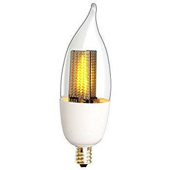 Euri Lighting Flickering Flame Bulb ECA95 1120fc LED CA95 Decorative