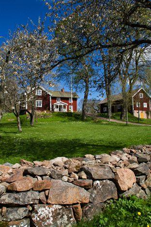 Åsens By, Småland in spring