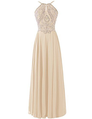 Dresstells® Long Prom Dress Halter Chiffon Bridesmaid Beadings Evening Gown Champagne Size 2 Dresstells http://www.amazon.com/dp/B0176FCDR4/ref=cm_sw_r_pi_dp_ndg1wb0H2AMQQ