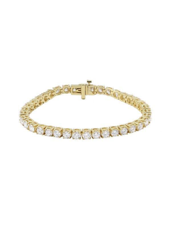 Square 4 Prong Set Diamond Tennis Bracelet 14k Yellow Gold Bracelets Jewelry Tennis Bracelet Diamond Yellow Gold Bracelet Pretty Bracelets