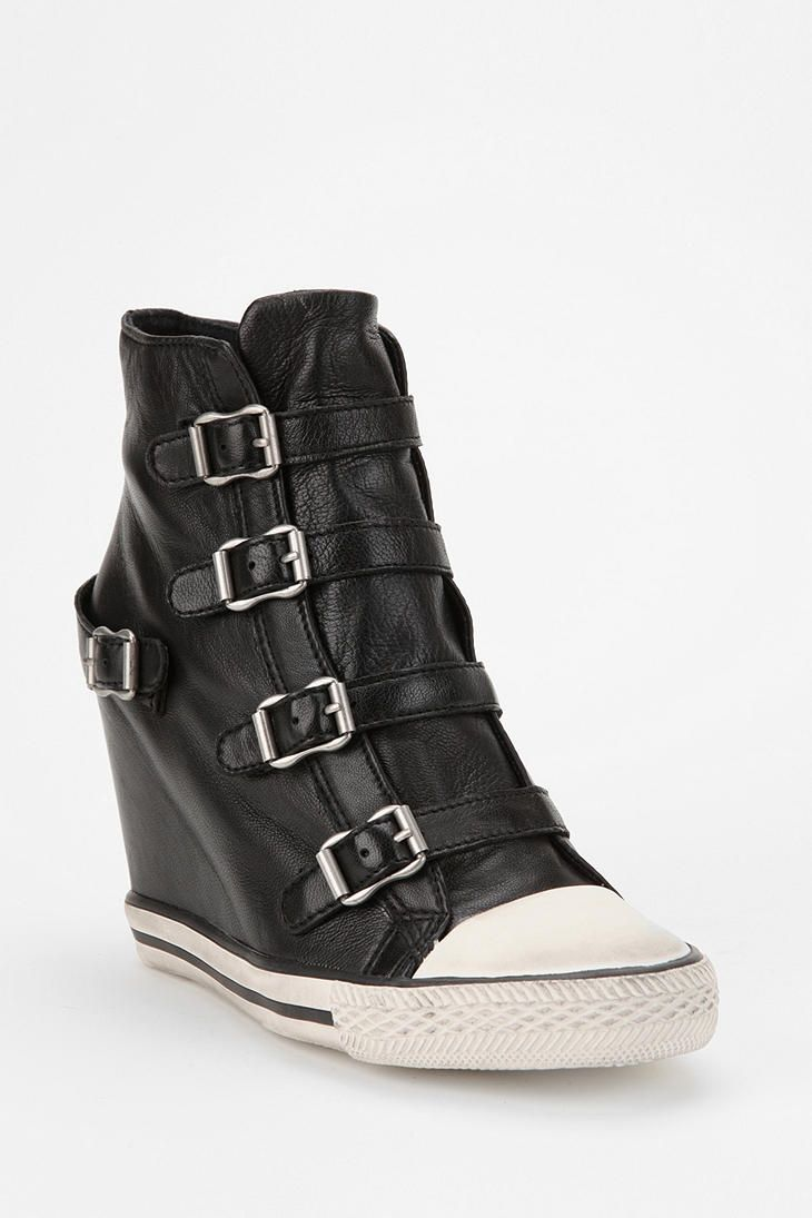 "I'm honestly not sure what I think about wedge sneakers. But, for what that's worth, I like how ""classic"" these are.     Ash United Leather Wedge-Sneaker"