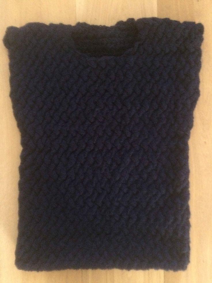 Gestrickter Damen Pullunder handgefertigt Wollgemisch Gr. S  36 - 38 von Creaknit auf Etsy